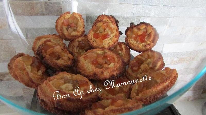 petites amandines à la macédoine de fruits confits 015-