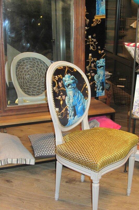changer le tissu d'une chaise à Quimper
