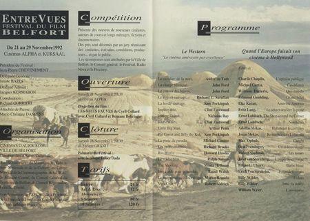Programme réduit 1992 Sommaire Entrevues