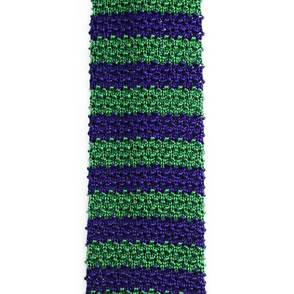 cravate tricot rayée
