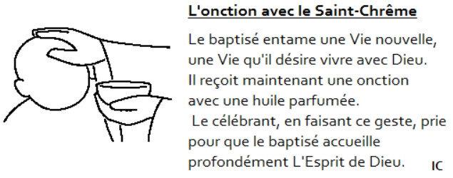 Onction au baptême, idées Cathé