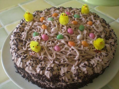 Nid de Pâques au chocolat