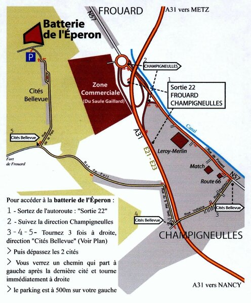 Itineraire fort frouard