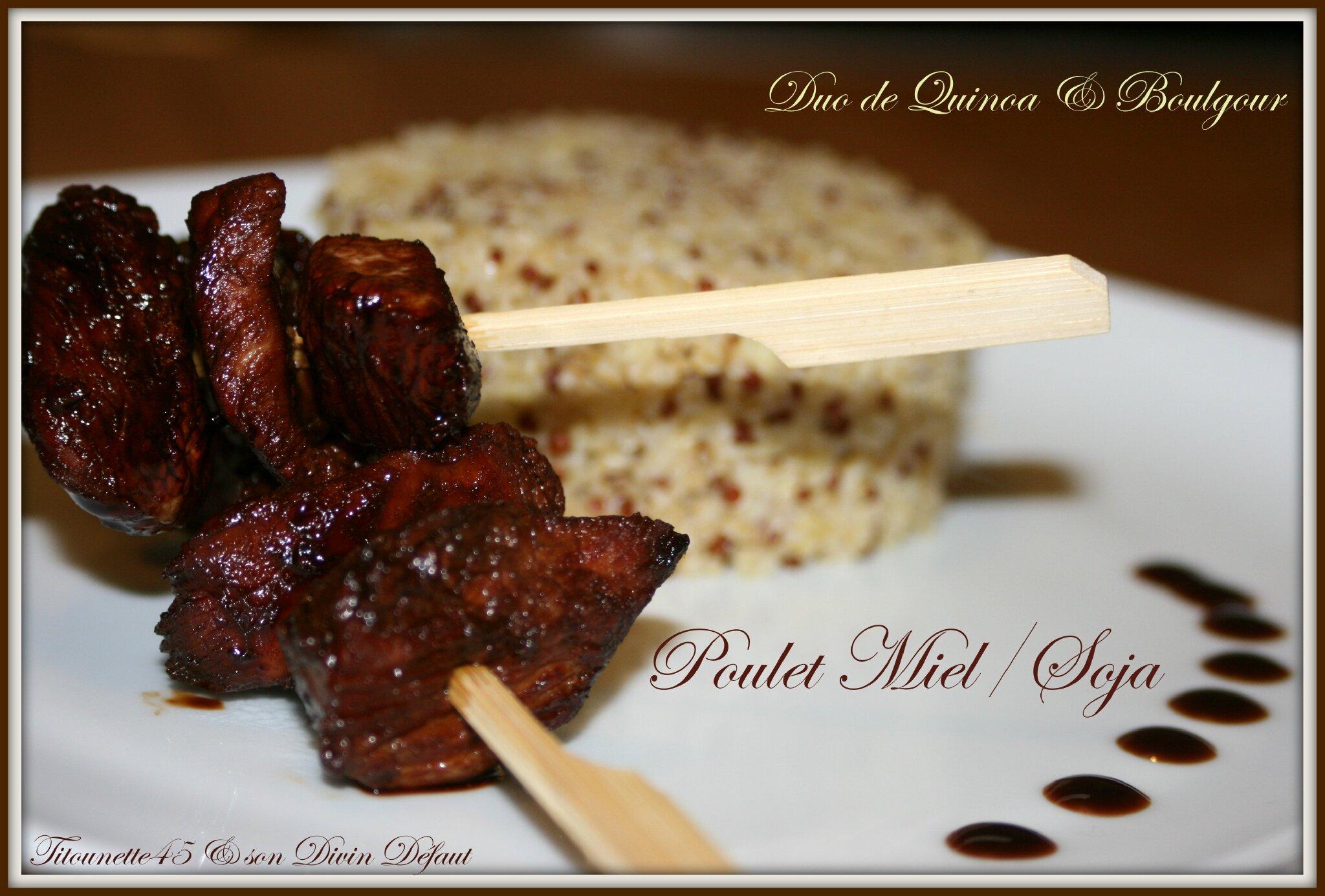Poulet miel soja et quinoa
