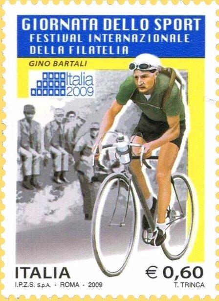 Timbre Italie 2009 Gino Bartali