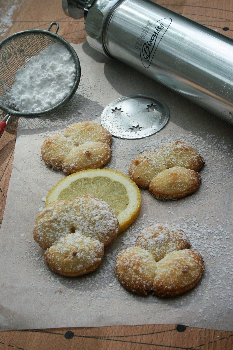 Sablés au citron (au pistolet à biscuits) 1