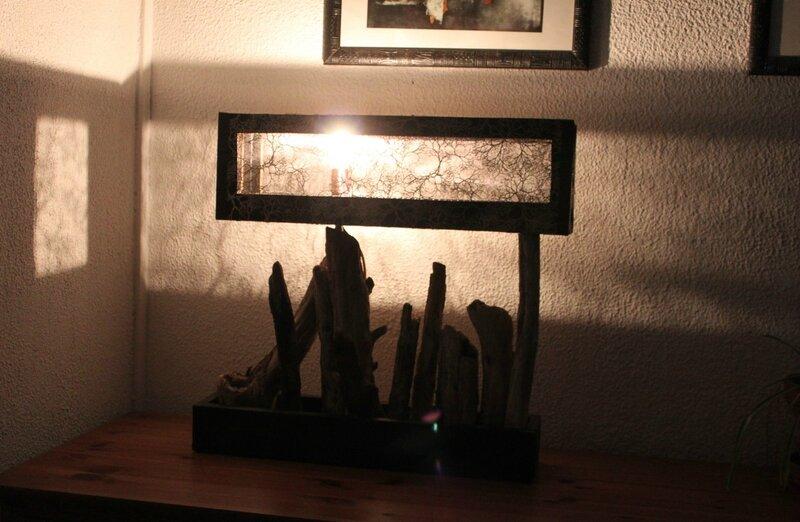 Lampe Bois flotté - collection L'Auberlac'h 005