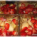 Verrines pommes fraises