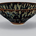 A Jizhou 'tortoiseshell'-glazed bowl, Song dynasty (960-1279)