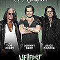 Hollywood vampires (alice cooper + johnny depp + joe perry) concert exclusif au hellfest - 22 juin! complet! - video