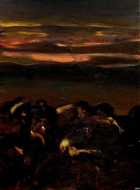 Murmures nocturnes. 162 x 114 cm.