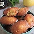 Madeleine miel et citron
