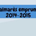 Palmarès 2014-2015