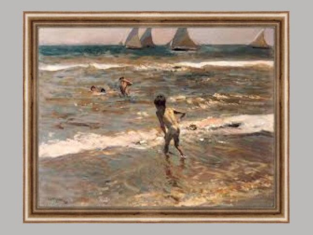 069-Enfants dans la mer