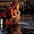 L'eau mystique de l'inde ganga jal d'amour