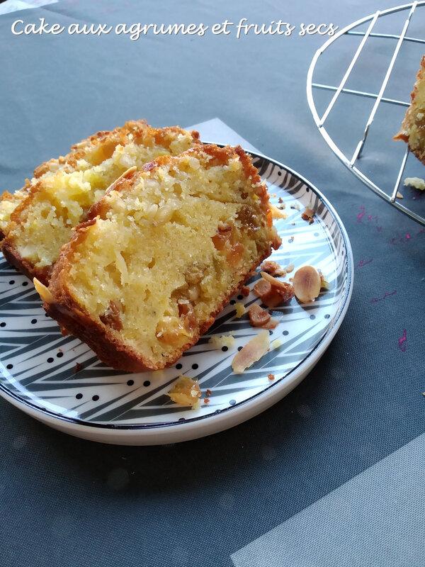 Cake aux agrumes et fruits secs 1