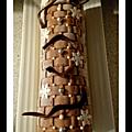Chocolat/poires/caramel (bûche)