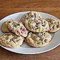 Cookies aux smarties d'après laura todd