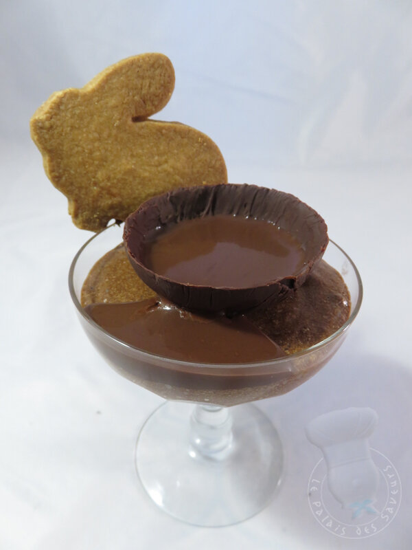 Mousse au chocolat, et son coulis choco orange