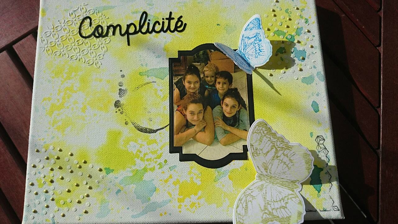 un canvas Scrap Plaisir
