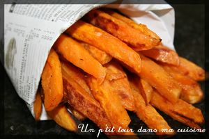 Frites patates douces2