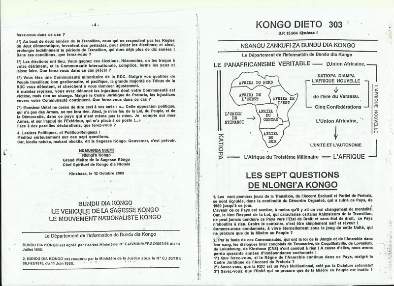 LES SEPT QUESTIONS DE NLONGI'A KONGO a