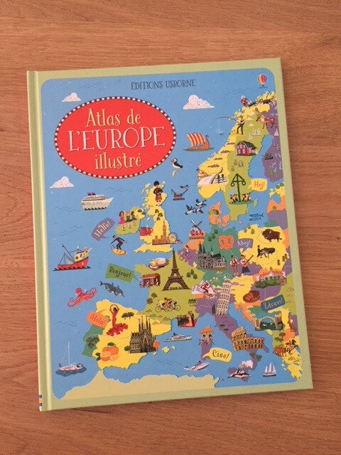 atlas de l'europe illustré éditions usborne