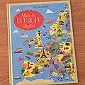 Nous avons découvert l'atlas de l'europe illustré (editions usborne)