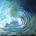 dans la vague - huile 014