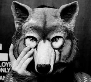 big wolf mask black and white