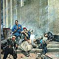 Merlette, scène de la guerre, bataille 1880
