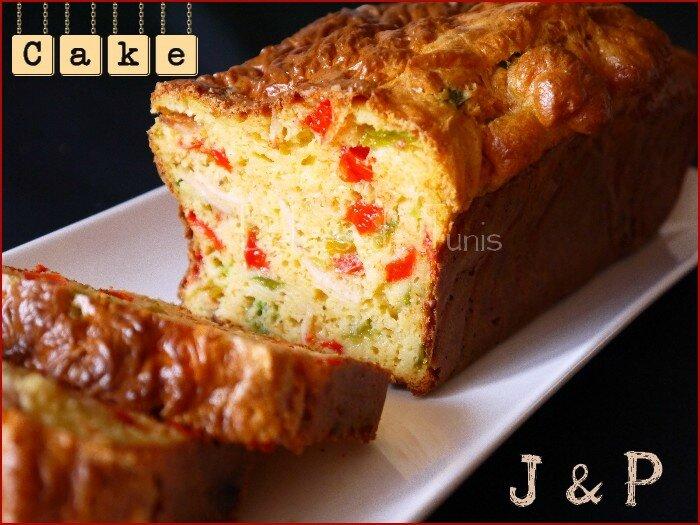 Cake jambon - poivron 2