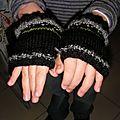 Des gants sans doigt