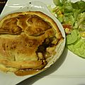 Tourte au poulet et aux champignons de jamie oliver (chicken and mushroom pie)
