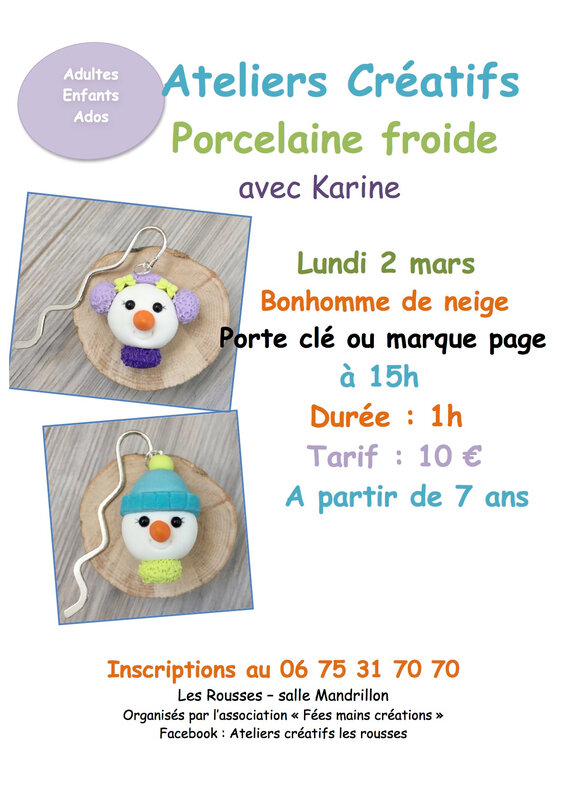 porcelaine froide marque page