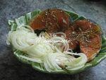 Darne de saumon au colombo cuit sur la plancha et son riz nature 006