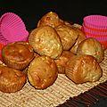 Muffins aux pommes et a la fleur d'oranger