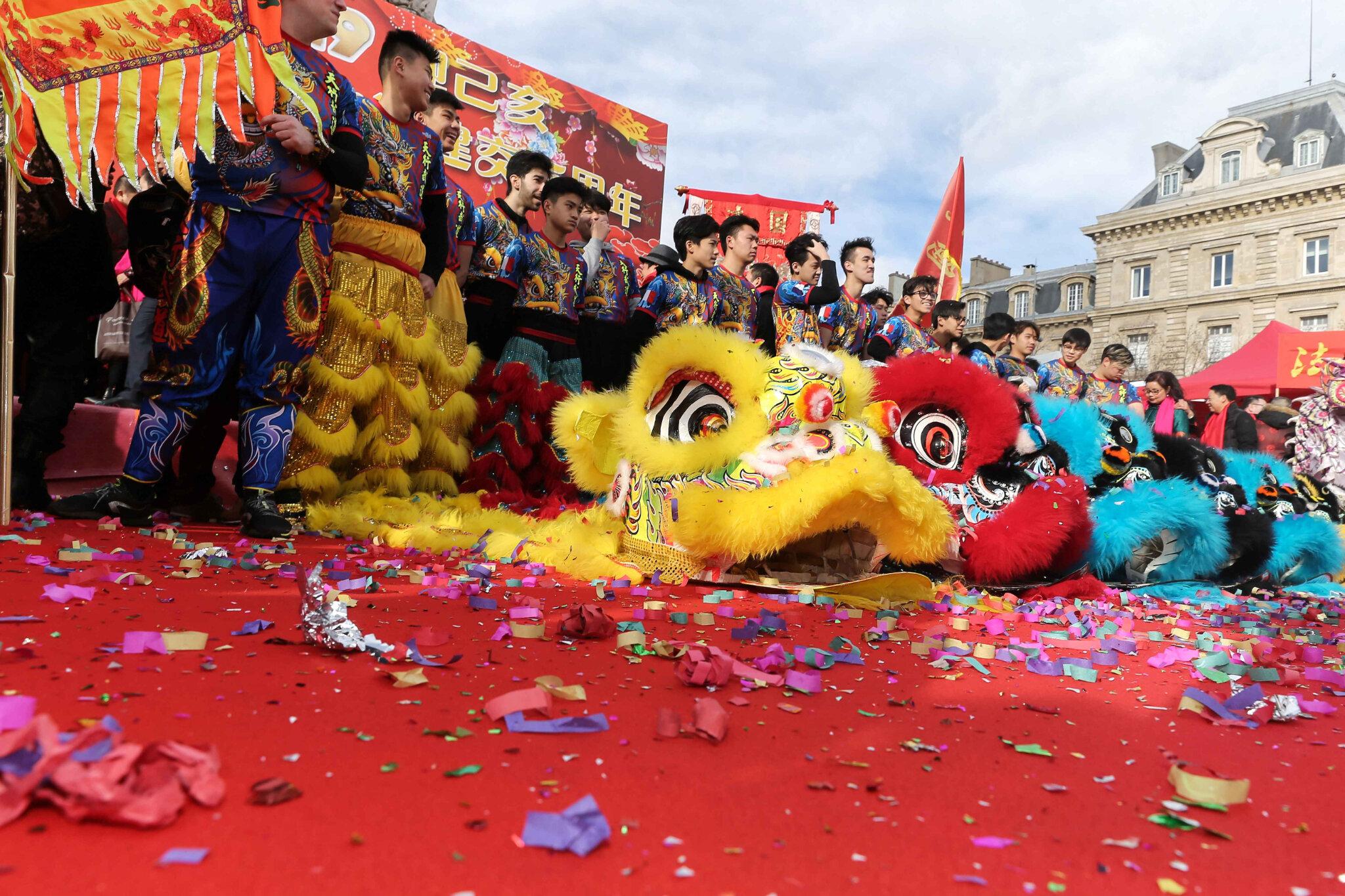 La communauté chinoise à Paris fête l'année du Porc. © Michel Stoupak. Dim 10.02.2019, 14h29m44.