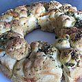 Monkey bread aux lardons et mozzarella