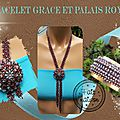 Bracelet grace et collier palet royal