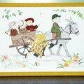 Enfants sur charrette