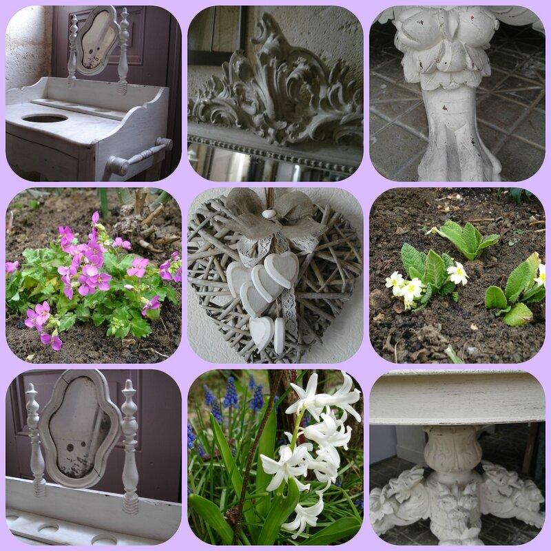Table de toilette et Fleurs
