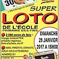 5ème super loto de l'école - edition 2017