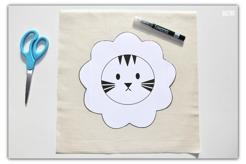 3 diy tuto coussin giotto feutre textile decor enfant dessin kids by bbtma le blog