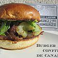 Burger au confit de canard