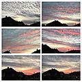 Encore un beau ciel, un coucher de soleil de premier ordre, demain la pluie est prévue sur les cartes des météorologues