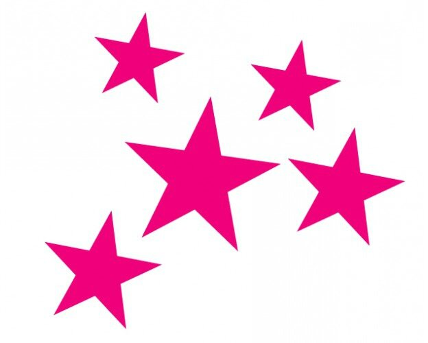 lot-de-5-stickers-etoiles-fushia