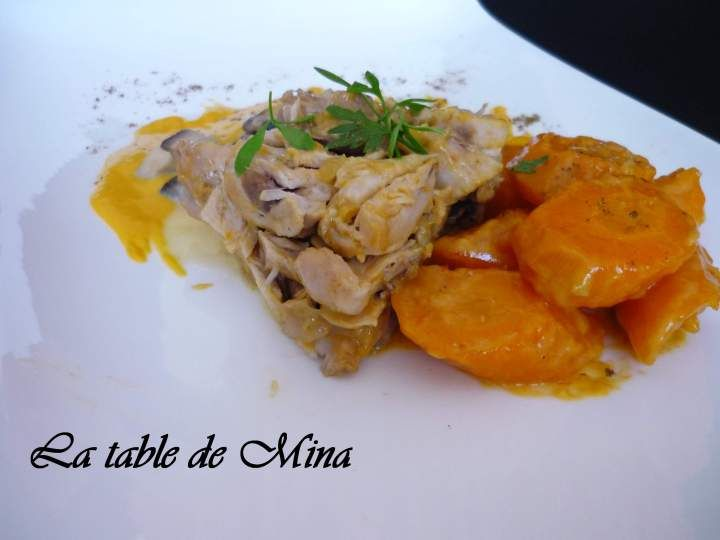 lapin vin blanc carottes champignons au thermomix la table de mina. Black Bedroom Furniture Sets. Home Design Ideas