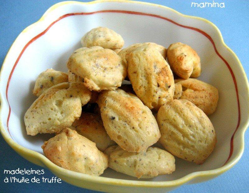 madeleines truffes, parmesan, noisettes