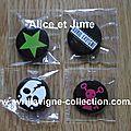 The Black Star Tour Product - Set de 4 pins